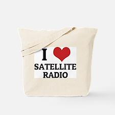 I Love satellite radio Tote Bag