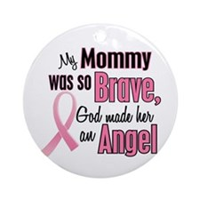 Angel 1 (Mommy BC) Ornament (Round)