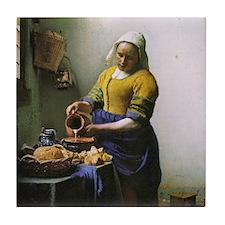 Vermeer Milkmaid Tile Coaster