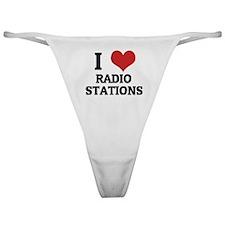 I Love Radio Stations Classic Thong