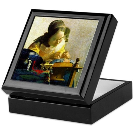 Vermeer Lacemaker Keepsake Box