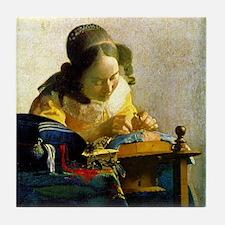 Vermeer Lacemaker Tile Coaster