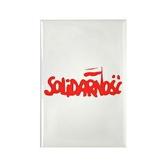 Solidarnosc Rectangle Magnet (10 pack)
