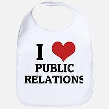 I Love Public Relations Bib