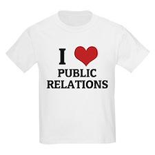I Love Public Relations Kids T-Shirt