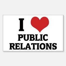 I Love Public Relations Rectangle Decal