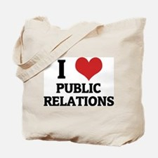 I Love Public Relations Tote Bag