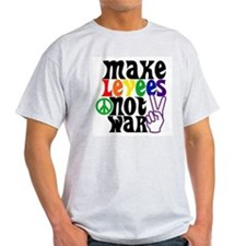 MAKE LEVEES NOT WAR Ash Grey T-Shirt
