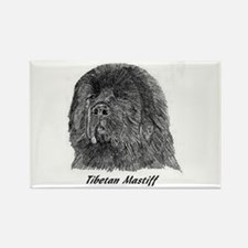 Unique Tibetan mastiff Rectangle Magnet