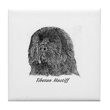 Cool Tibetan mastiff Tile Coaster