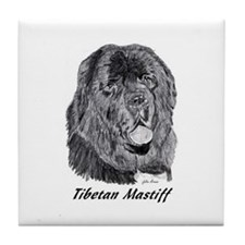 Cute Tibetan mastiff Tile Coaster