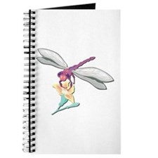 Dragonfly With Flower Journal