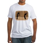 Dumbass and Lagger dance-off Fitted T-Shirt