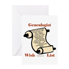 Genealogy Wish List Greeting Card