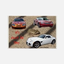 ALL ABOUT THE CARS Rectangle Magnet
