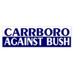 Carrboro Against Bush (bumper sticker)