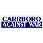 Carrboro Against War (bumper sticker)