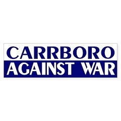 Carrboro Against War (bumper sticker)
