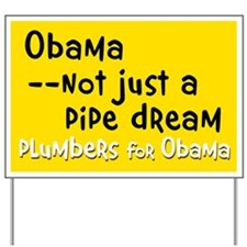 Plumbers for Obama yard sign