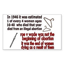 roe v wade Rectangle Decal