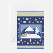 Snowflake Yorkie Holiday Greeting Cards (Pk of 10)