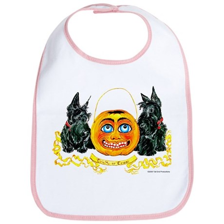 Scottish Terrier Halloween Pumpkin Bib