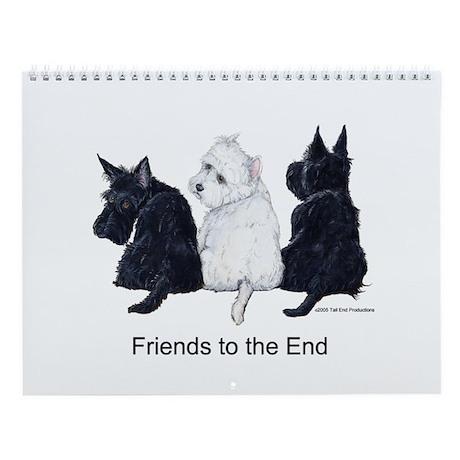 Scottish Terrier Wall Calendar