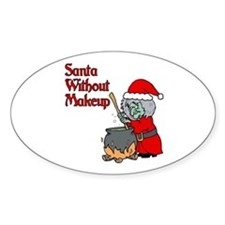 Santa Won't Be Coming Oval Decal