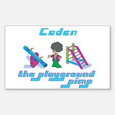 Caden - Playground Pimp Rectangle Decal