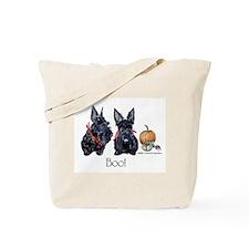 Halloween Scotties Tote Bag