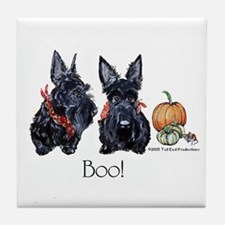 Halloween Scotties Tile Coaster