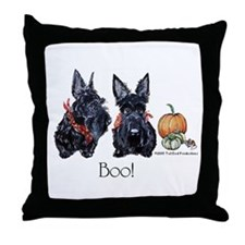 Halloween Scotties Throw Pillow