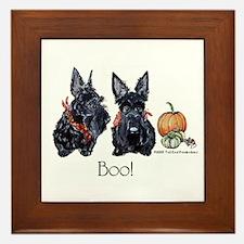 Halloween Scotties Framed Tile