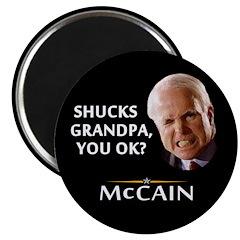"Grandpa, You Okay? McCain 2.25"" Magnet (10 pa"