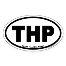 THP Texas Hold Em Poker Euro Oval Decal