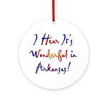 Arkansas Pride! Ornament (Round)