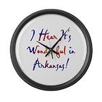 Arkansas Pride! Large Wall Clock