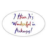 Arkansas Pride! Oval Sticker