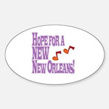 A New New Orleans Oval Decal
