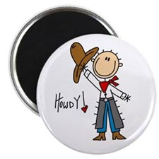 """Cowboy Howdy 2.25"""" Magnet (100 pack)"""