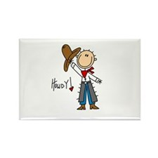 Cowboy Howdy Rectangle Magnet (10 pack)