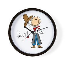 Cowboy Howdy Wall Clock