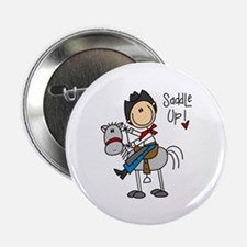 "Cowboy Saddle Up 2.25"" Button (10 pack)"