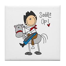 Cowboy Saddle Up Tile Coaster