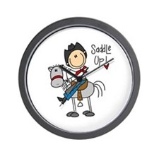 Cowboy Saddle Up Wall Clock