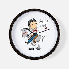 Cowboy Saddle Up Wall Clock