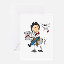Cowboy Saddle Up Greeting Card