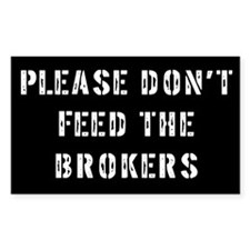 Broker Gift Rectangle Decal