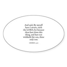 GENESIS 22:16 Oval Decal