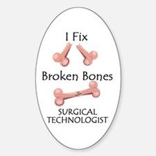 Broken Bones ST Oval Decal
